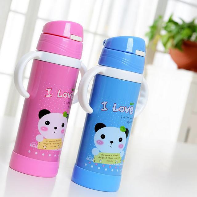 420 ml de aço inoxidável garrafa de água palha BPA Material frasco garrafa recém-nascido