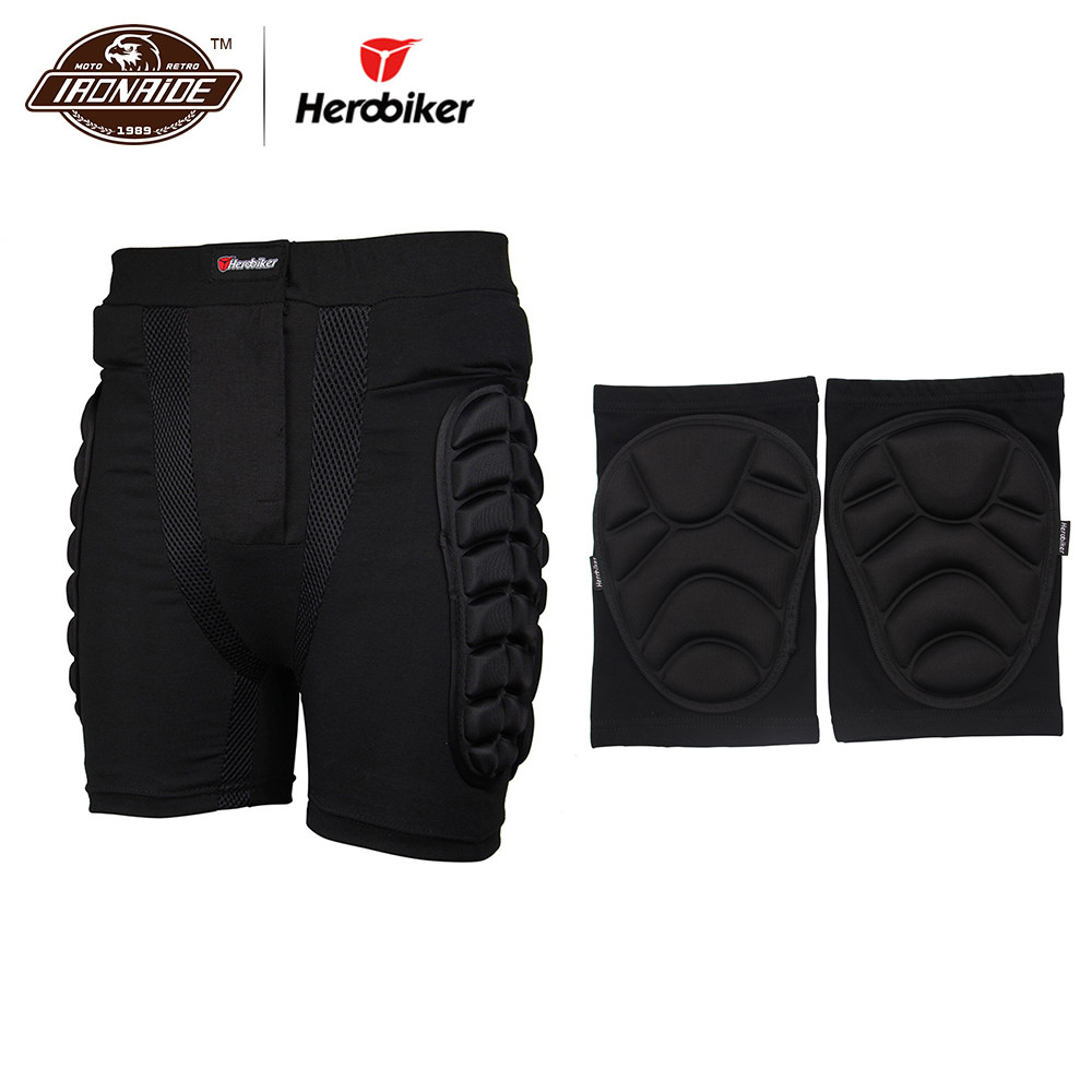 HEROBIKER Winter Skiing Short Pants Hip Protector Ski Snow Skate Protection Shorts Motorcycle Protective Gear Pants & Knee Pads цены