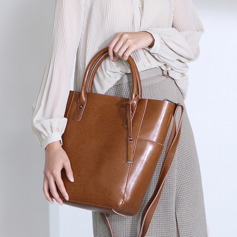 VALENMISA Brand Genuine Leather Bags Classic Tote Bags Designer Handbags High Quality Ladies Shoulder Bags Women Messenger Bags