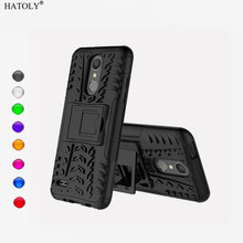 HATOLY For Capa LG Aristo 2 Case TPU & PC Armor Case For LG Aristo 2 Phone Protective Cover For LG Aristo 2 (L92) Funda 5.0 protective tpu pc back case w stand for lg optimus g2 black red