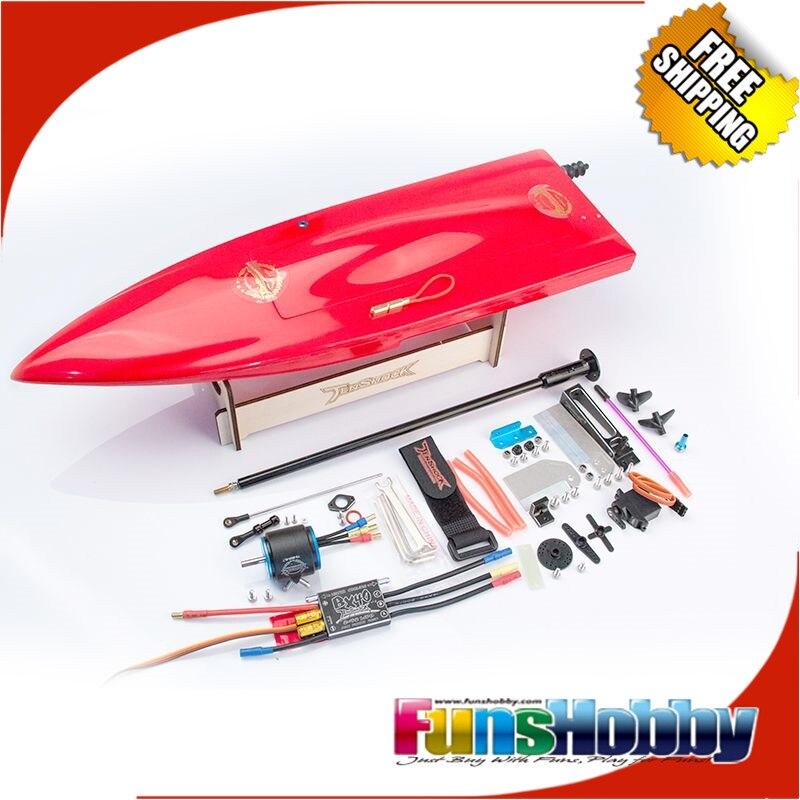 Tenshock мини моно Scord комплект стекло волокно RC игрушечная лодка W/двигатель Пропеллер ESC Высокое скорость дистанционное управление Электричес