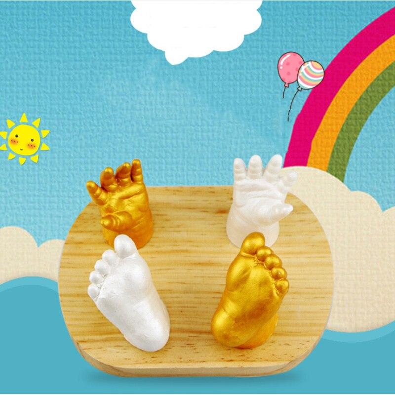3D пластырь руки и ноги литья Ладошек следы DIY Литья клон детские мини комплект Keepsake для памяти подарки глины слизь