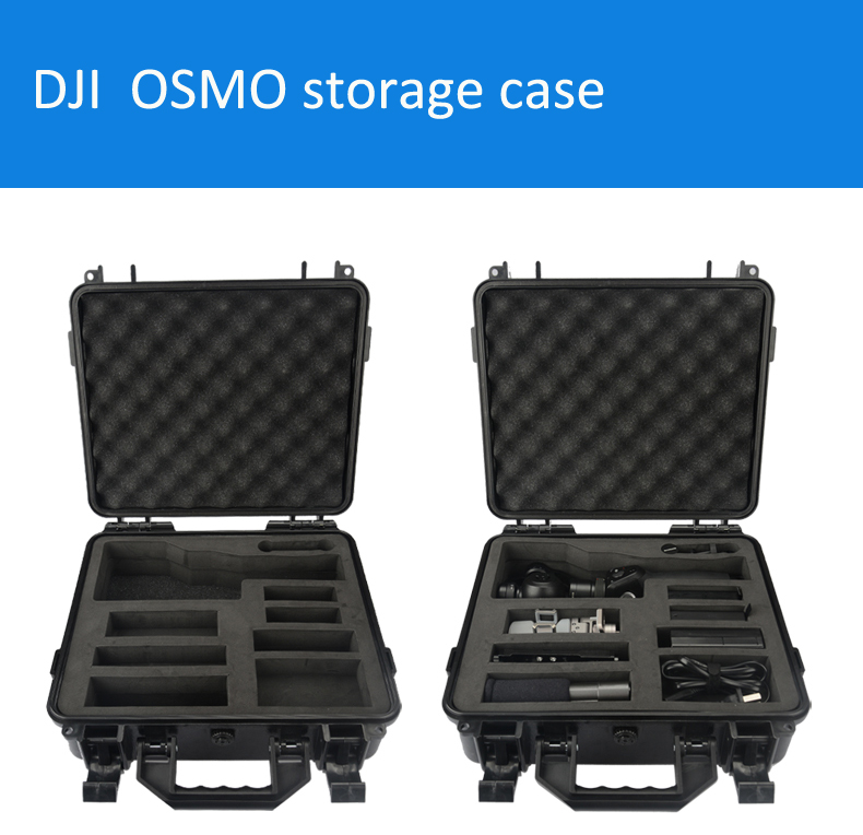 DJI Dajiang OSMO storage case portable suitcase protective box Especially custom for OSMO waterproof with foam lining tool case new black abs plastic gimbal hard case for mini drone dji osmo with custom foam waterproof box for headless drone