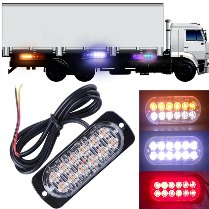 High Quality Super Bright 12 LED Car Truck Emergency Light Flash Strobe Brake Lamp Warni ...