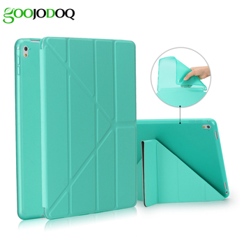 For iPad Pro 9.7 Case, Multi-fold Stand with Silicone Soft Back Smart Cover for Apple iPad Mini 1 2 3 Case Auto Sleep/Wake Up