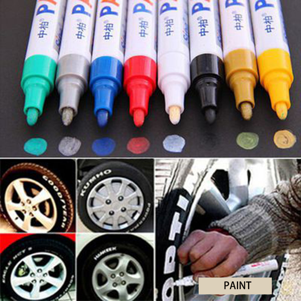 Universal White Car Tyre Tire Tread Marker markers Graffiti Oily Marker Pen for BMW Opel Renault AUDI LADA car-styling