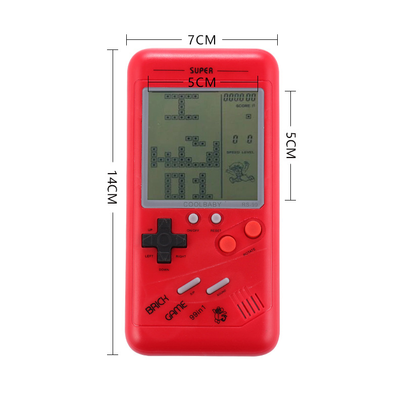 10PCS Game Console Riddle Educational Toys Gift Retro Classic Childhood Tetris Handheld Game Players LCD Electronic Games Toys in Handheld Game Players from Consumer Electronics