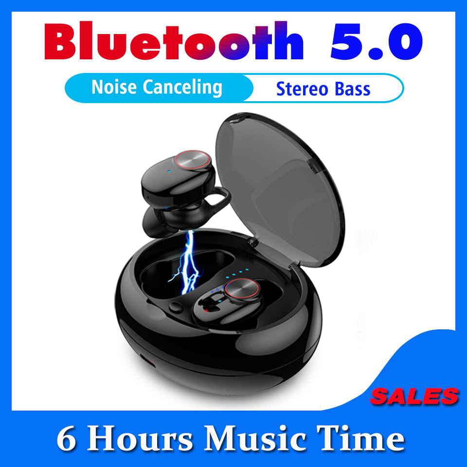 Bluetooth Earphone With <font><b>V5</b></font>.0+EDR Stereo Sound <font><b>V5</b></font> Wireless Earphone Built-in Microphone Hands-free Calling Bluetooth <font><b>TWS</b></font> Earbuds image