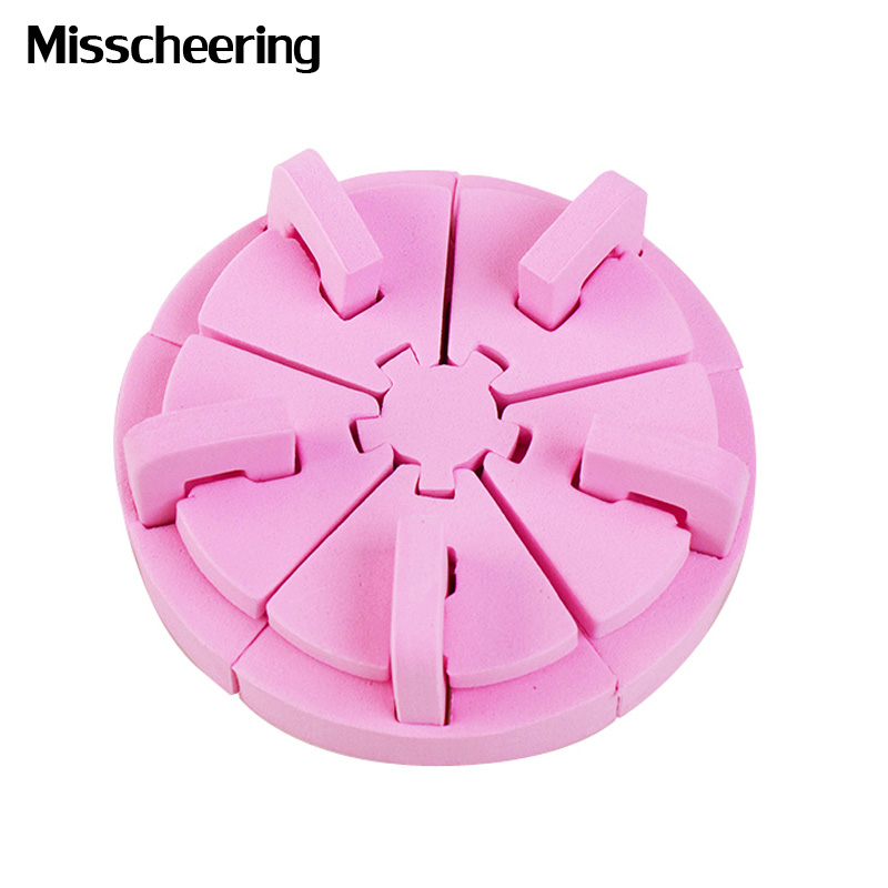 1pcs Delicate Pink Nail Art Sponge For Practice Nail Tips Display ...
