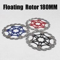 Mtbフローティングディスクブレーキローター高速冷却マウンテン自転車180ミリメートルステンレス鋼ディスクブレーキ部品サイクリング自転車アクセサリー