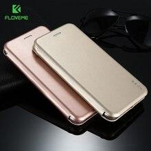 Floveme кожаный чехол для iPhone 7 6 6 S 7 Plus Обложка Luxury стойки сальто винтажные дуги защитный Аксессуары для iPhone 7 Plus Coque