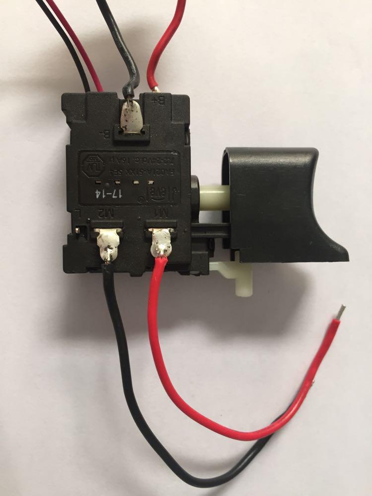 Jlevel 16A DC perceuse électrique interrupteur FA021A-51XX avec câble 7.2-24 V FA021A