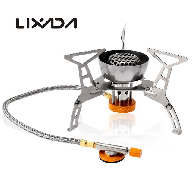 Lixada Outdoor Stove Windproof Folding Gas Stoves Butane Burner Portable Foldable Split Furnace Cooking Camping 3200w In From Sports
