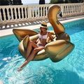 1.8m 71inch Giant Rideable Gold Swan Toy Inflatable Float Swimming Water Pool Summer FUN Decor'