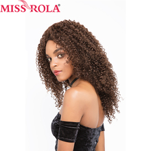 Miss Rola Hair Brazilian Hair Wigs for Black Women Long  #2/4 Kinkly Curly Lace Frontal Wigs Non-remy Hair