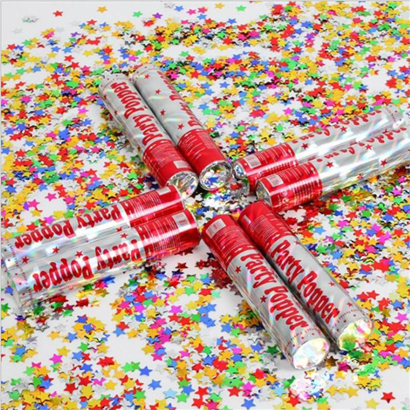 5pcs Set Confetti Cannon Party Poppers Pentagram Fills For