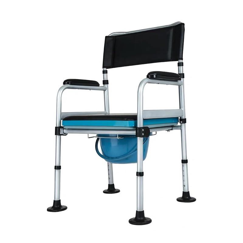 Selbstlos Altenpflege Wc Bad Stuhl Mit Bettpfanne Aluminium Alloy Einstellbar Bad Wc Kommode Stuhl Gesundheitsversorgung Erwachsenen Kommode