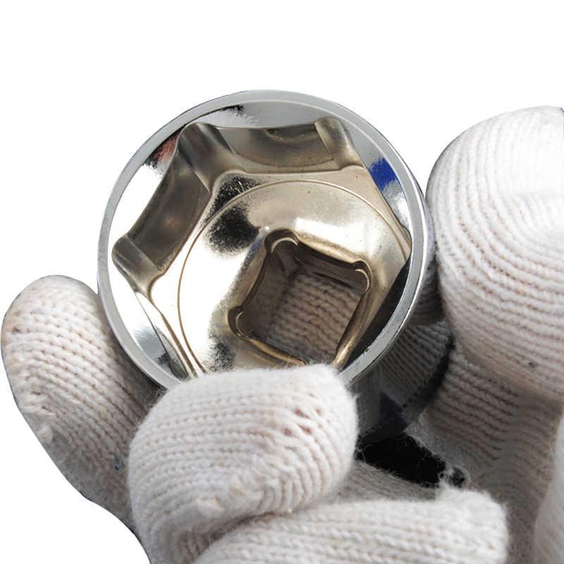 8-32 ミリメートルドライブソケット六角ドライブセット CR-V 1/2 ''ソケットアダプタ自動車修理衝撃ソケット電源ツール 1pc