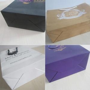 Image 5 - 사용자 지정 종이 가방 환영 가방 결혼식 사용자 지정 포장 가방 사용자 지정 선물 가방 종이 가방 로고 재사용 가능한 선물 가방