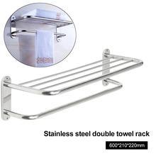 Настенный для отеля держатель для полотенец из нержавеющей стали