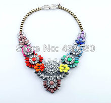 N00465 Hot Sale Qingdao Factory Wholesale Top Quality Fashion Chokers Acrylic Rainbow Inspirational Necklace(China)