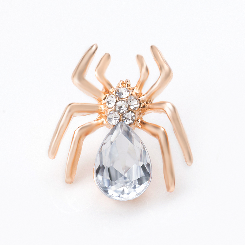 H  Hyde nuevo oro plata color rhinestone Spider broche vintage Amuletos cristal  broche de boda Pasadores mujeres hombres joyería regalo 98ae49f238a