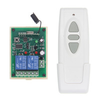 Motor Remote Switch Controller DC 12V 24V Motor Forwards Reverse Up Down Wall Transmitter Manual Button