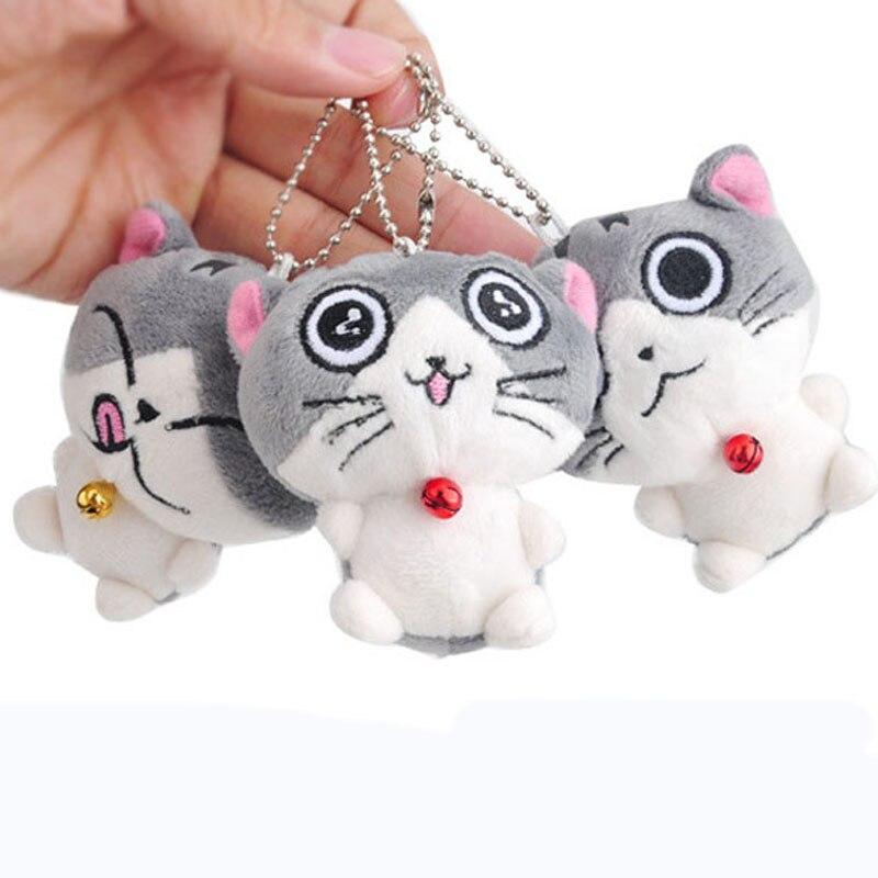 7cm Cute Plush Toys New Cute Soft Plush Cat Doll  Cat Plush Stuffed Toy Doll Kid's Keychain Pendant Gift Plush Toy Doll I0108