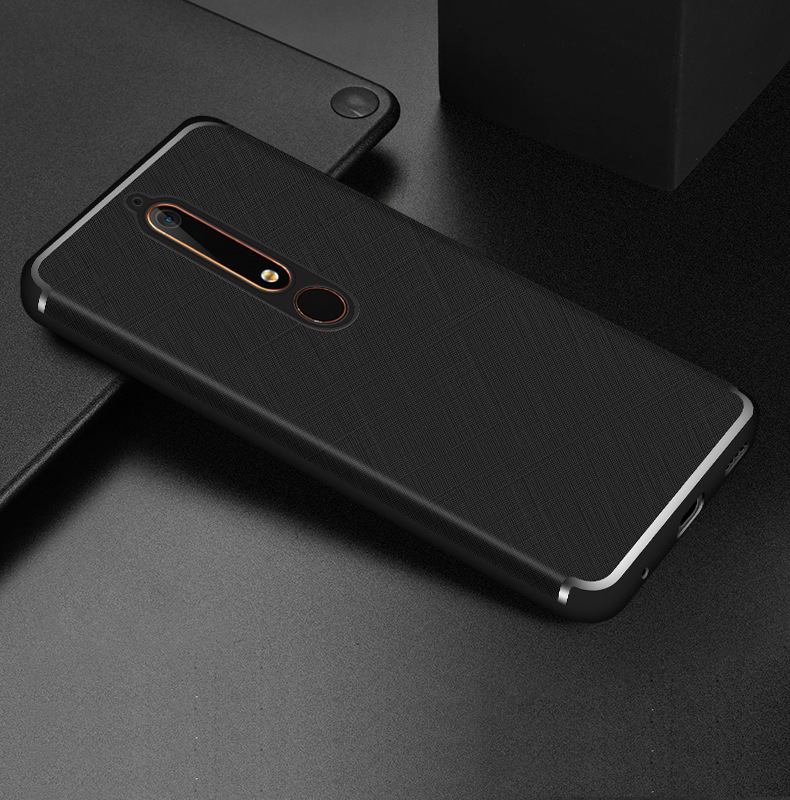 cheap for discount 47aa4 86a00 Case For Nokia 6 2018 Case Nokia 6.1 Luxury PU Leather Protective Back  Cover For Nokia 6 2018 TA-1068 TA-1050 TA-1043 TA-1045