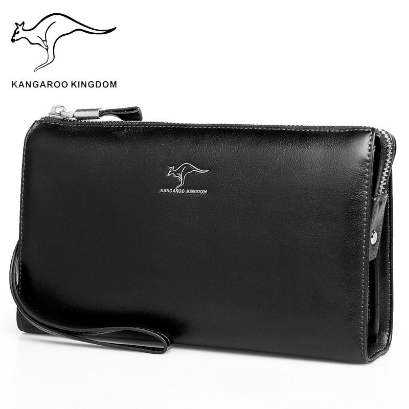 Kangaroo Kingdom Men Bag Brand Handbag Genuine Leather Men Clutch Bags Classic Black HandbagsKangaroo Kingdom Men Bag Brand Handbag Genuine Leather Men Clutch Bags Classic Black Handbags