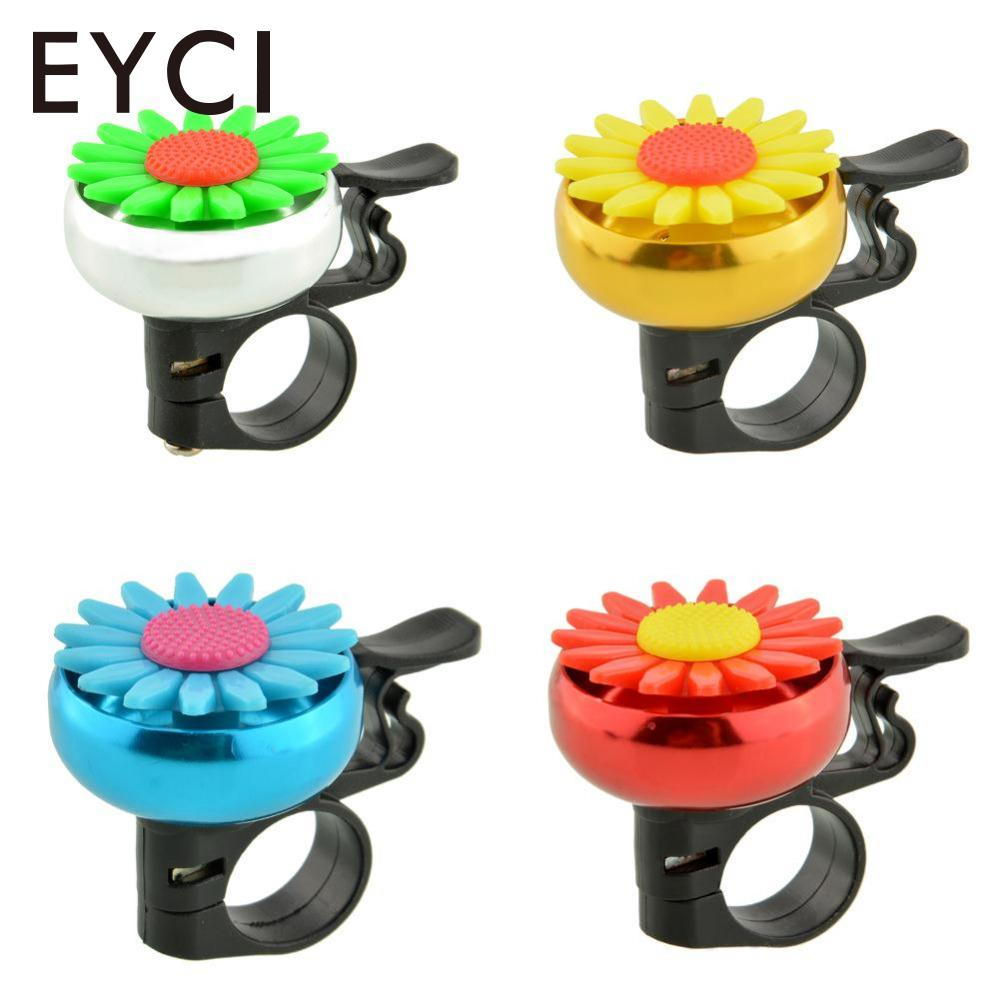 EYCI Bike Cute Flower Alarm Bell Mountain Bicycle Safety Handlebar Warning Cycling Horn Loud Sound Accessories Color Random
