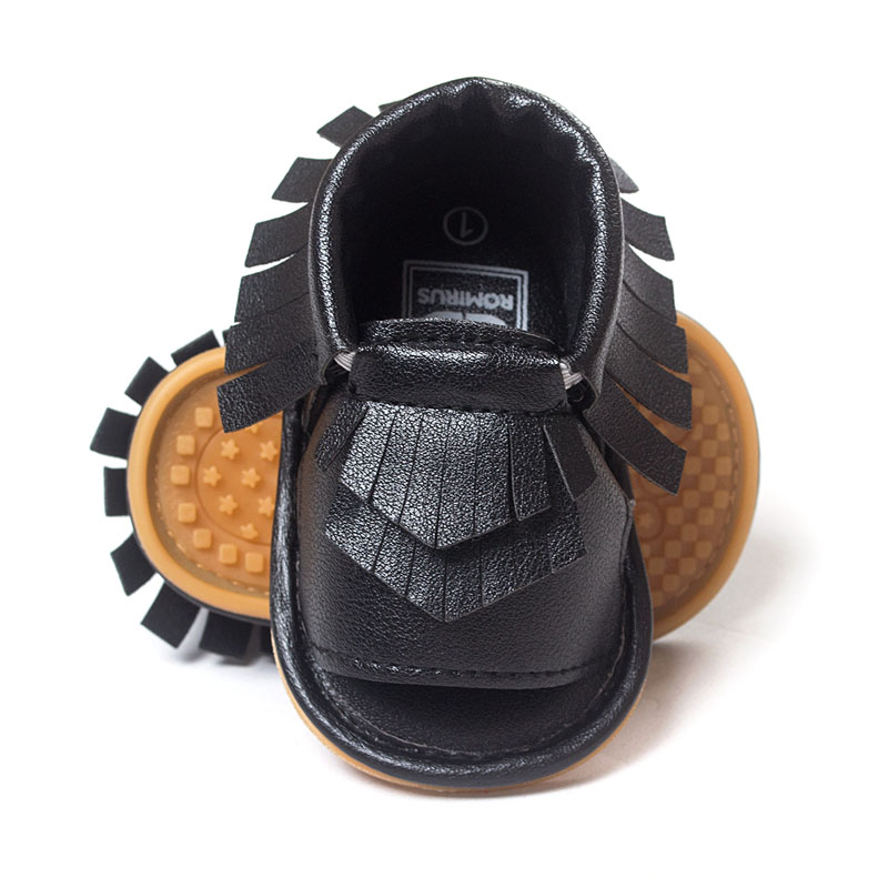 New Summer PU Leather Fringe Newborn Baby Girl Boy Crib First Walkers Soft Soled Non Slip Shoes Baby Moccasins Moccs Shoes