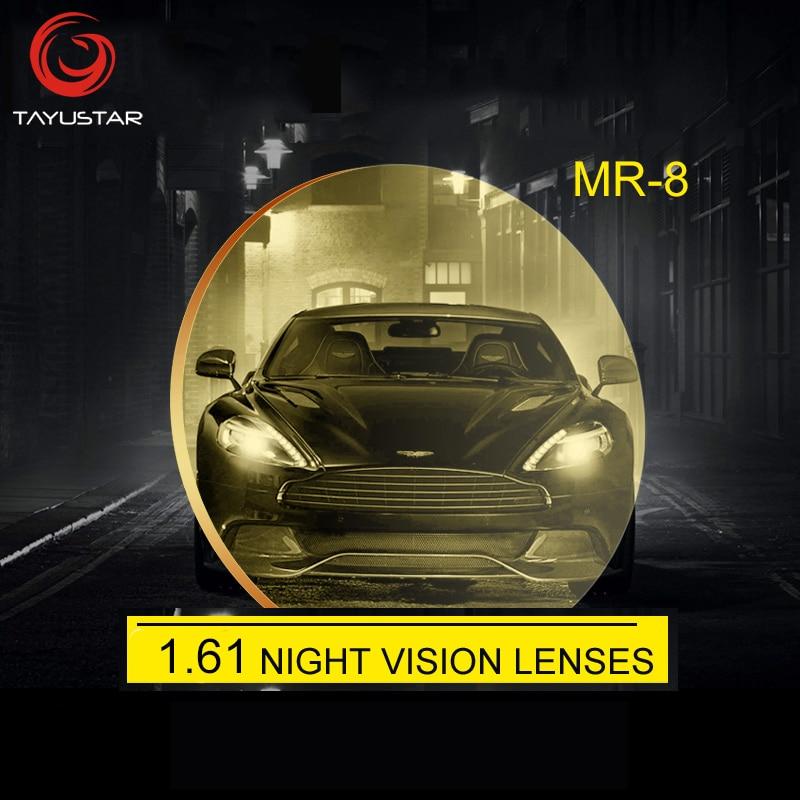 1.61 ASP Night vision glasses Lens Polarized yellow lenses Night vision for driving for Driving Anti Glare 100% Prescription len