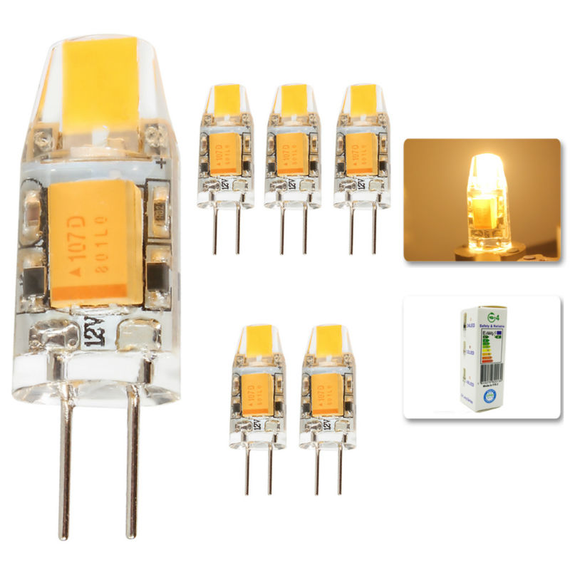 5Pcs/lot 2015 G4 AC DC 12V Led bulb Lamp SMD 3W Replace halogen lamp light 360 Beam Angle luz lampada led