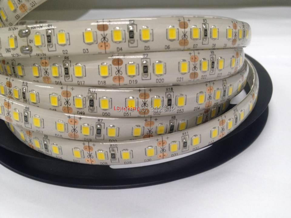 5M 12V IP65 2835 300Leds 5M Flexible LED Strip;30W;12-14lm/led;high Bright;waterproof In Silicon Coating
