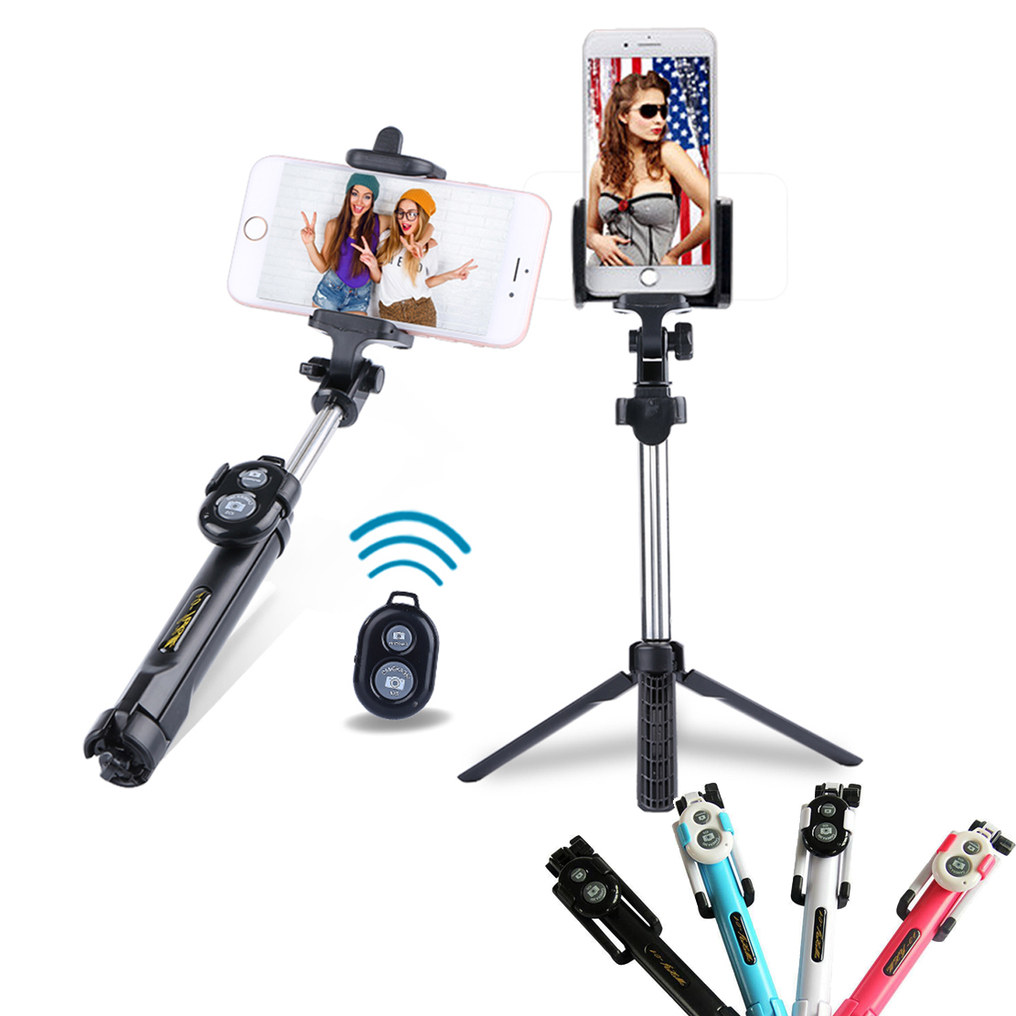 Universal Handheld mini Tripod Monopod Selfie Stick Portrait Bluetooth Remote Shutter for iPhone Sumsang HTC LG Huawei Xiaomi health monitoring bluetooth sync children s adults smart watch phone for iphone samsung huawei lg htc xiaomi so on smartphone