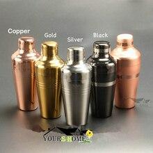 цена на 510ml Unpolish Copper Plated Shaker 304 Stainless Steel Cocktail Shaker Bar Shaker Boston Shaker Bar tool