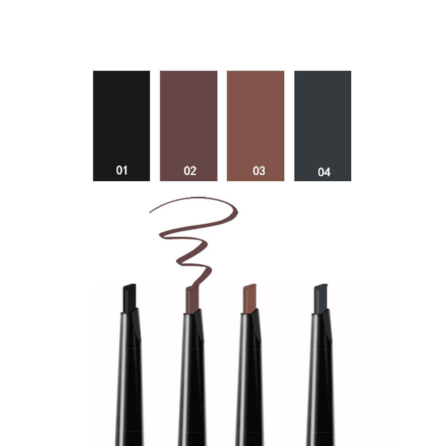 MIXDAIR Eyebrow Enhancer With Stencil Eyes Make Up Tools Cosmetics Natural Long Lasting Paint Waterproof Black Eyebrow Pencil 4