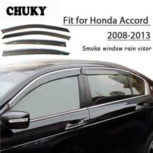 Chuky 4pcs ABS Car Window Smoke Visors Awnings Shelters Rain Shield For Honda Accord 2008 2009 2010 2011 2012 2013 Accessories(China)