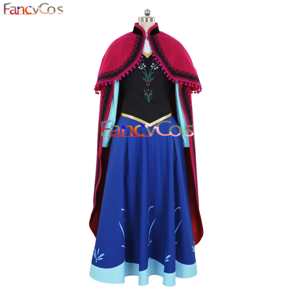 Halloween New ANNA Dress Costume Cosplay Adult Dress Girl Dress Anime movie costume Custom Made
