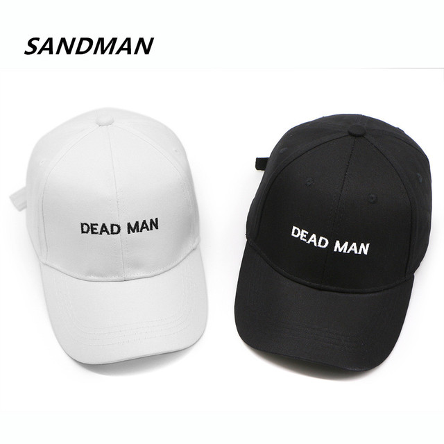 SANDMAN Embroidery Letter Dead Man Cap Adjustable Hip Hop Snapback Baseball  Caps Men Women Fitted Trucker Dad Hat Bone 4492b4a1a700