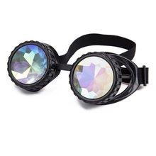 9efca2bb4 Roda Dentada LELINTA Hotselling Vintage Estilo Punk Óculos de Lente Colorida  Kaleidoscope Rainbow Crystal Lentes Steampunk Goggl.