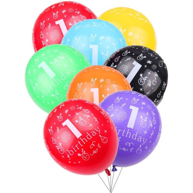TSZWJ Z 073 New 10pcs/lot Color Print 1st Birthday Happy Birthday