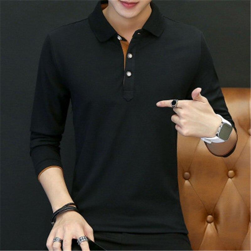 2018 New Fashion Men Polo Shirts Long sleeve Solid color Slim Fit Cotton Mens Polos Shirt M-3XL Male Clothing 4