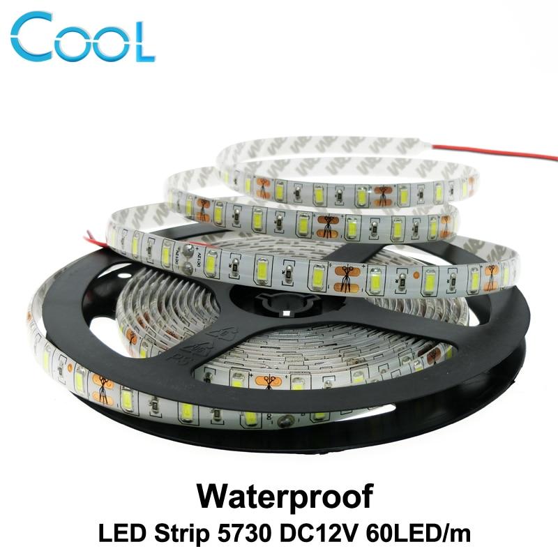 LED Strip 5730 Waterproof DC12V 60LED/m 5m/lot 5730 LED Strip Bright Than 5630 5050 LED Strip.