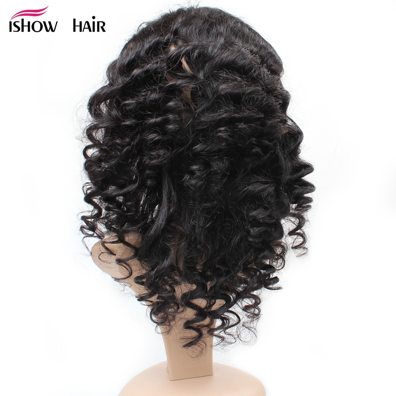 Ishow 360 Lace Frontal Indian Loose Wave Closure With Baby Hair 100% Human Hair Bundles Non-remy Natural Color 8-20 Inch