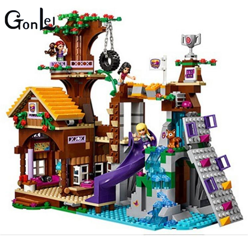 (GonLeI)  10497 Adventure Camp Tree House Model building kits compatible with city 3D blocks Educational toys for children magic tree house fact tracker 29 soccer