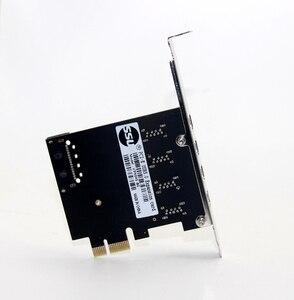 Image 5 - 4 Port USB 3.0 5 Gbps Pci express X1 Kartı Adaptörü HUB için Düşük Profilli Braketi Destekler