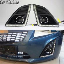 Reflektory samochodowe DRL dla chevroleta Cruze 2013 2014 2015 światła dzienne pokrywa lampy przeciwmgielnej reflektor 12V światło dzienne dla Chevy tanie tanio Car Flashing Światło dzienne Daytime Running Lights 00inch ABS+LED 12 v 1 5kg