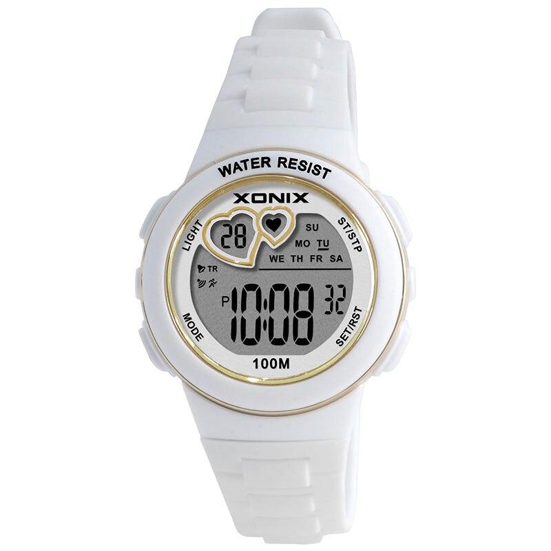 Hot!! Girls Sports Digital Watches Waterproof 100m Women Multifunction Watch Running Swimming Diving Wristwatch Montre Femme KM